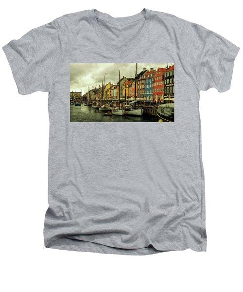 Nyhavn In Copenhagen Men's V-Neck T-Shirt