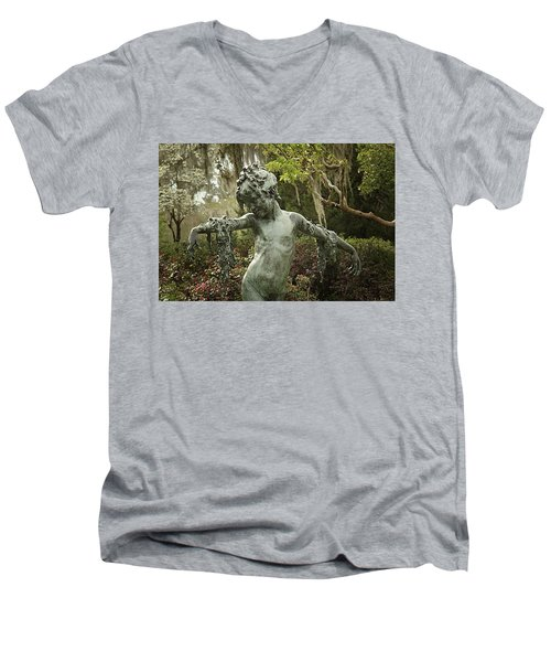 Men's V-Neck T-Shirt featuring the photograph Wood Nymph by Jessica Brawley