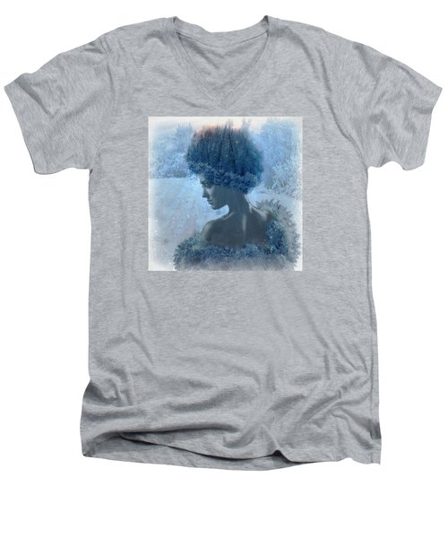 Nymph Of January Men's V-Neck T-Shirt by Lilia D