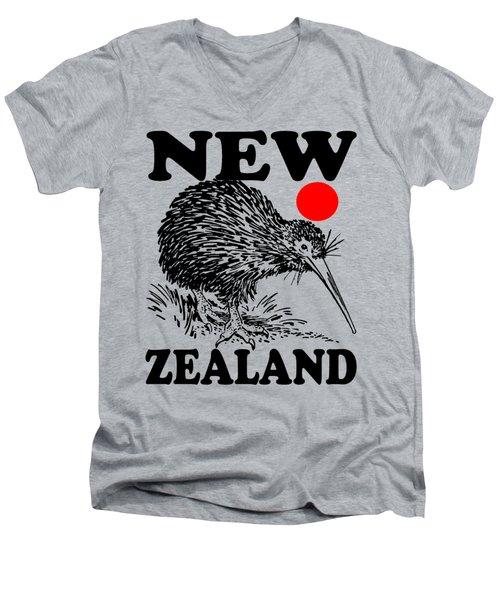 Nz-kiwi Men's V-Neck T-Shirt