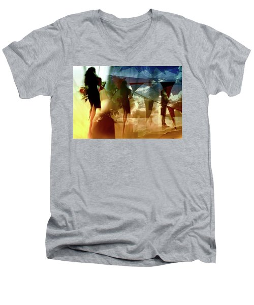 O How Much More Doth Beauty Beauteous Seem Men's V-Neck T-Shirt by Danica Radman