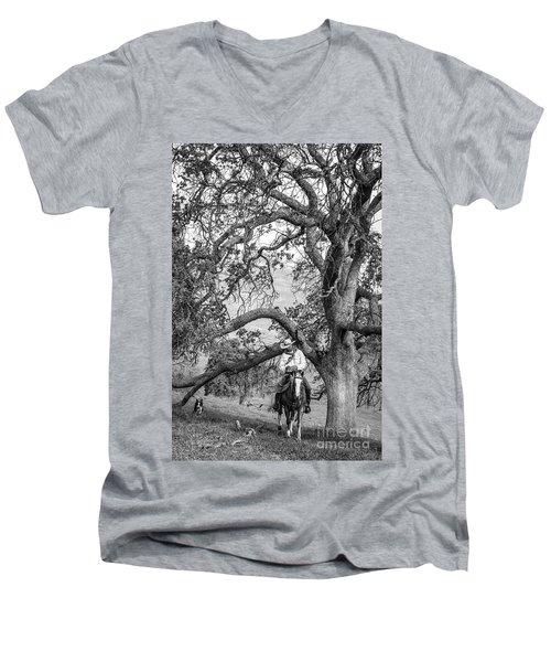 Oak Arches Men's V-Neck T-Shirt by Diane Bohna