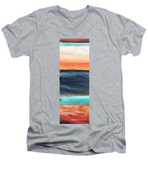 Oak Creek #31 Southwest Landscape Original Fine Art Acrylic On Canvas Men's V-Neck T-Shirt