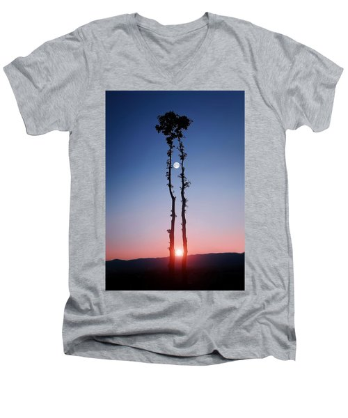 Oak Kissing Men's V-Neck T-Shirt by Bess Hamiti