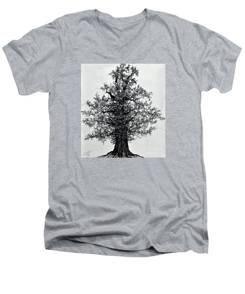 Oak Tree Men's V-Neck T-Shirt by Maja Sokolowska