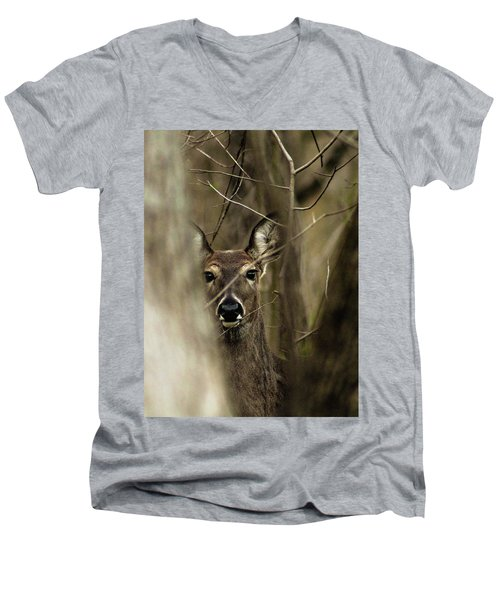 Observed  Men's V-Neck T-Shirt by Bruce Patrick Smith