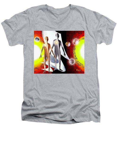 Observing Men's V-Neck T-Shirt
