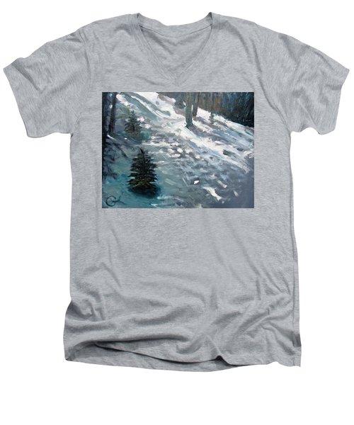 Observing Snow Men's V-Neck T-Shirt