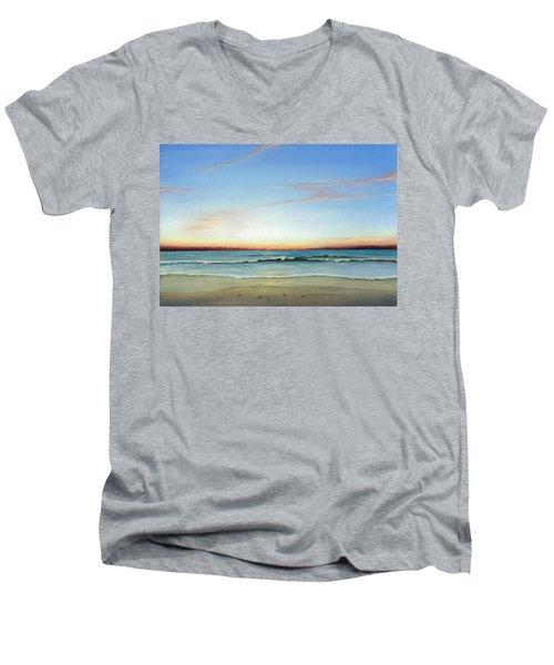Obx Sunrise Men's V-Neck T-Shirt by Albert Puskaric