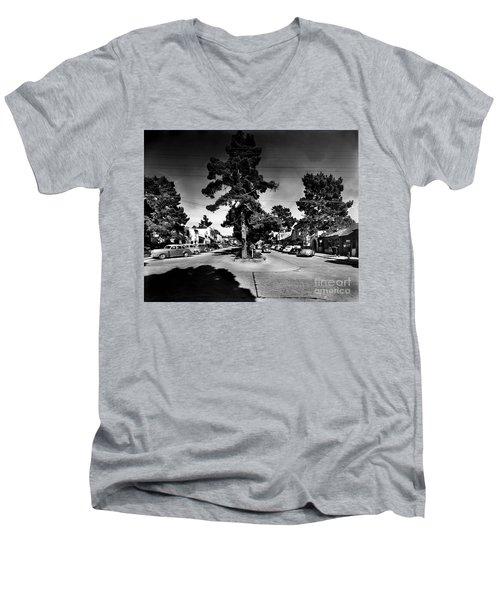 Ocean Avenue At Lincoln St - Carmel-by-the-sea, Ca Cirrca 1941 Men's V-Neck T-Shirt