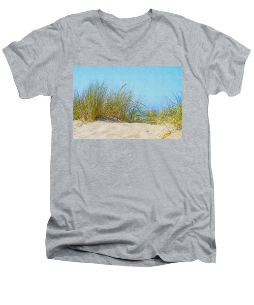 Ocean Beach Dunes Men's V-Neck T-Shirt