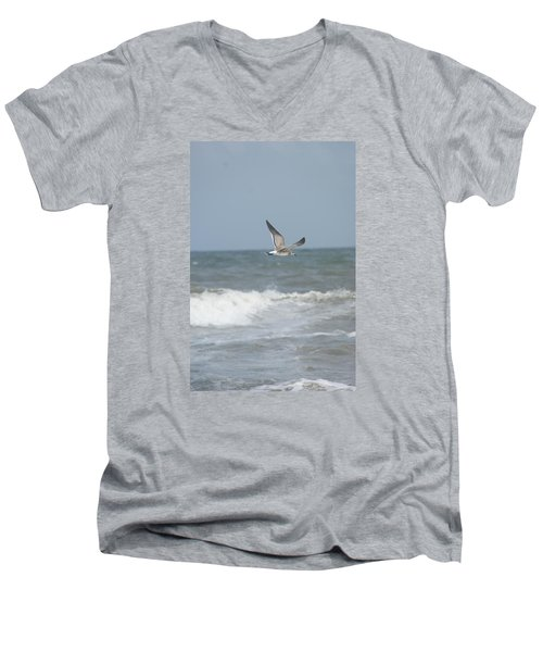 Men's V-Neck T-Shirt featuring the photograph Ocean Breeze by Heidi Poulin