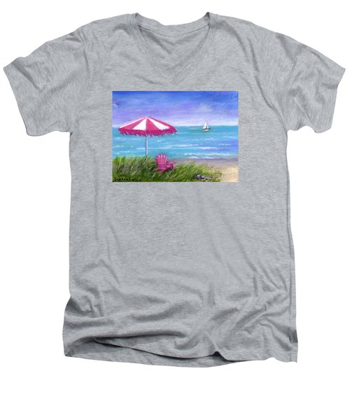 Ocean Breeze Men's V-Neck T-Shirt by Sandra Estes