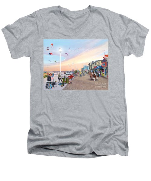 Ocean City Maryland Men's V-Neck T-Shirt