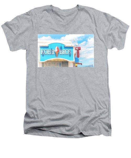 Ocean City Nj Kohr Bros Johnson Popcorn Men's V-Neck T-Shirt