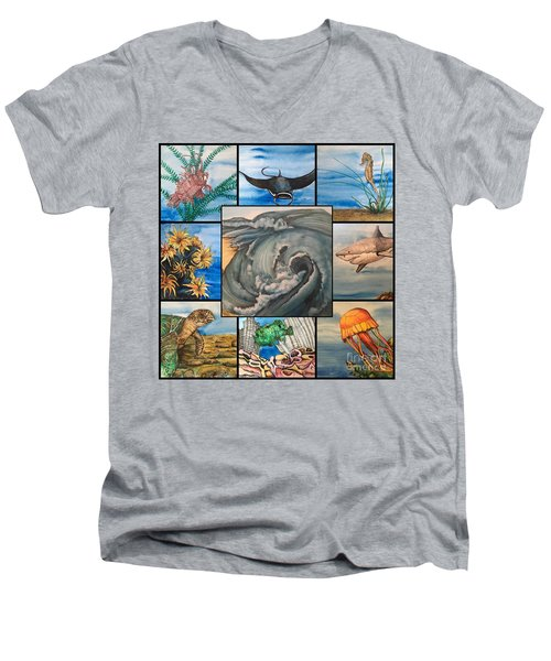 Ocean Collage #1 Men's V-Neck T-Shirt