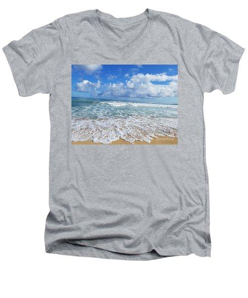 Ocean Foam Men's V-Neck T-Shirt