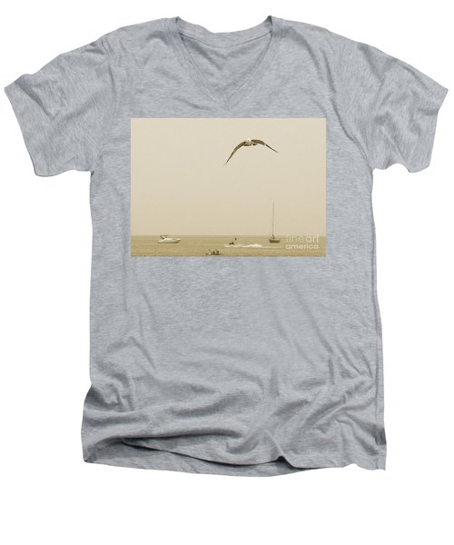 Ocean Fun Men's V-Neck T-Shirt by Raymond Earley