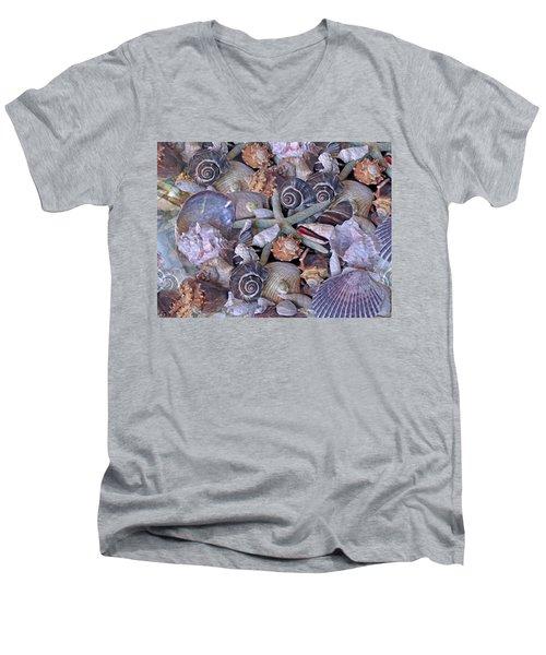 Ocean Gems 11 Men's V-Neck T-Shirt by Lynda Lehmann