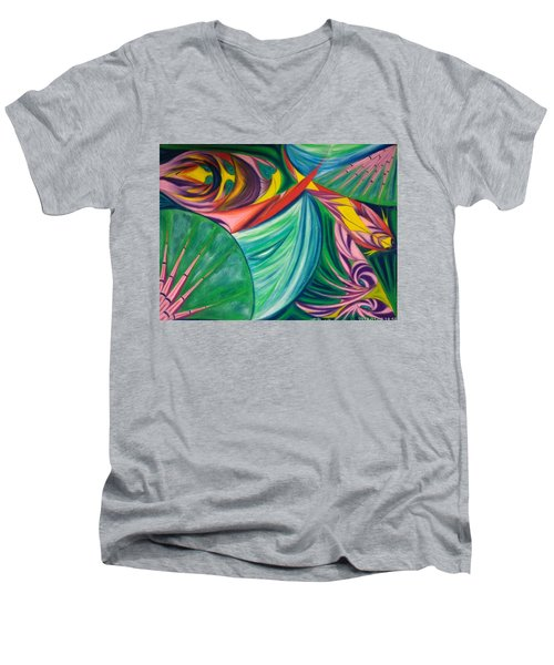 Ocean Graffiti Men's V-Neck T-Shirt