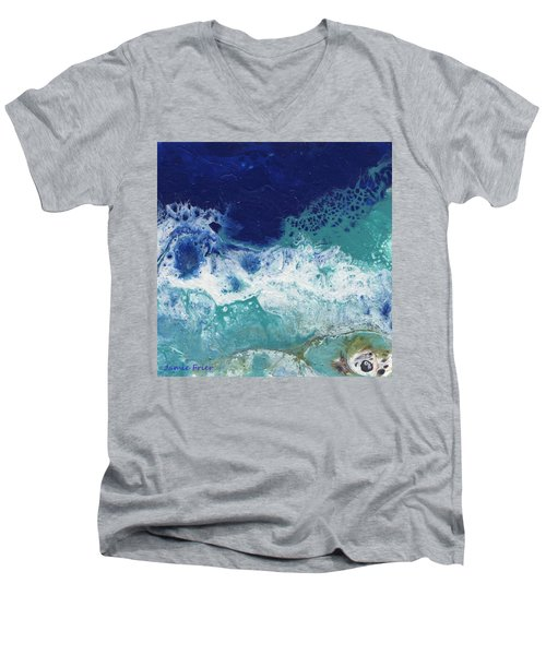 Men's V-Neck T-Shirt featuring the painting Ocean by Jamie Frier