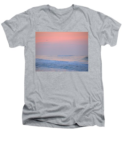 Men's V-Neck T-Shirt featuring the photograph Ocean Peace by  Newwwman