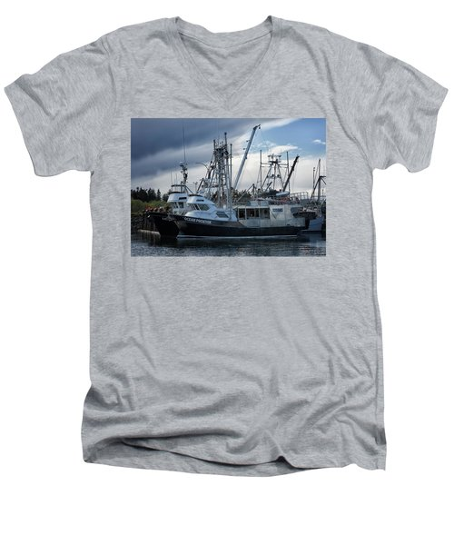 Ocean Phoenix Men's V-Neck T-Shirt by Randy Hall