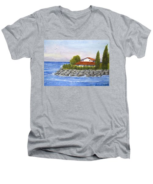Ocean Scene  Men's V-Neck T-Shirt