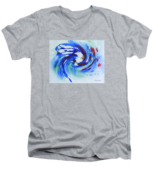 Ocean Wave Watercolor Men's V-Neck T-Shirt