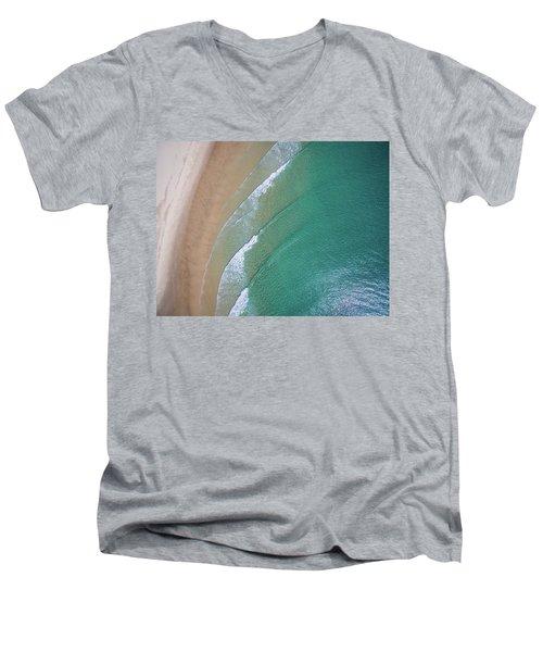 Ocean Waves Upon The Beach Men's V-Neck T-Shirt