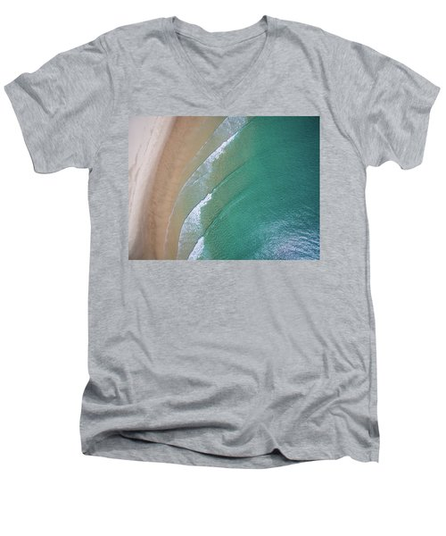 Ocean Waves Upon The Beach Men's V-Neck T-Shirt