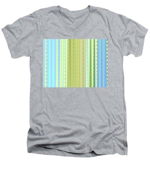 Oceana Stripes Men's V-Neck T-Shirt