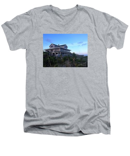 Men's V-Neck T-Shirt featuring the photograph Oceanic - Wrightsville Beach by Shelia Kempf
