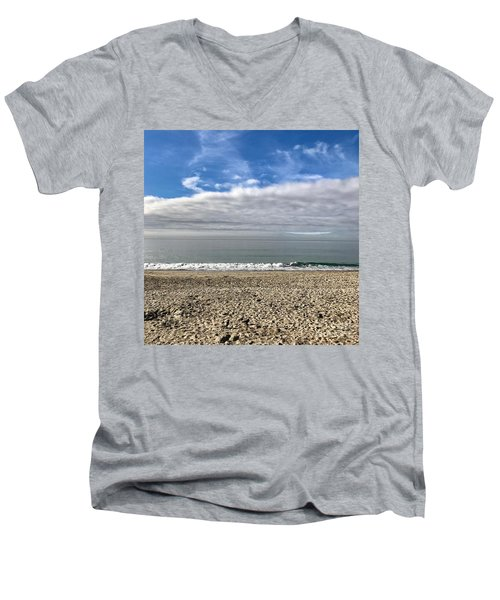 Ocean's Edge Men's V-Neck T-Shirt by Kim Nelson