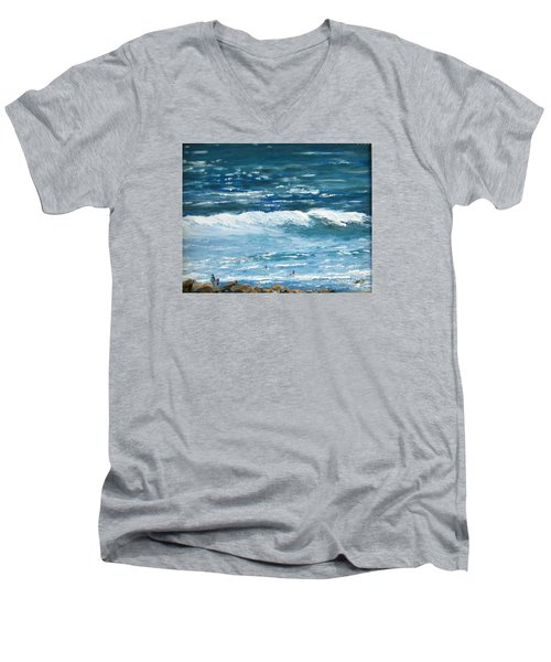Oceanside 3 O'clock Men's V-Neck T-Shirt