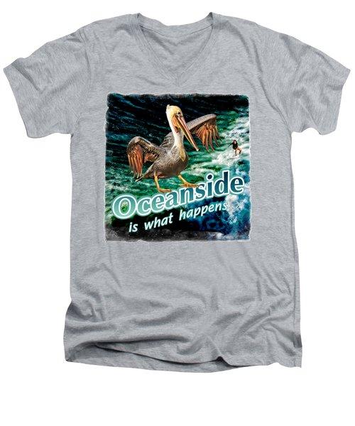 Oceanside Happens Men's V-Neck T-Shirt