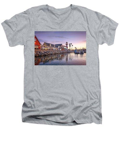 Oceanside Harbor Men's V-Neck T-Shirt by Ann Patterson