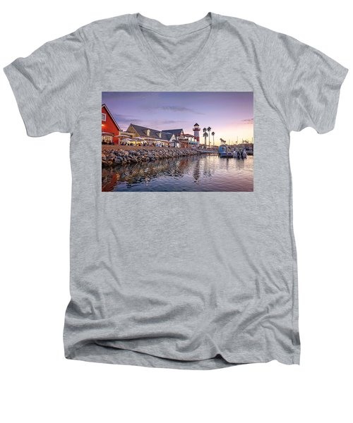 Oceanside Harbor Men's V-Neck T-Shirt