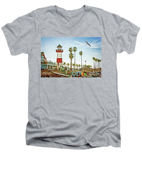 Oceanside Harbor Lighthouse Men's V-Neck T-Shirt
