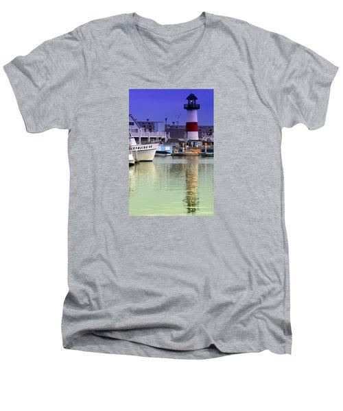 Oceanside Light Men's V-Neck T-Shirt by DJ Florek