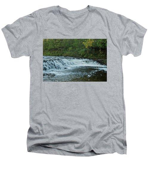 Ocqueoc Falls_9535 Men's V-Neck T-Shirt by Michael Peychich