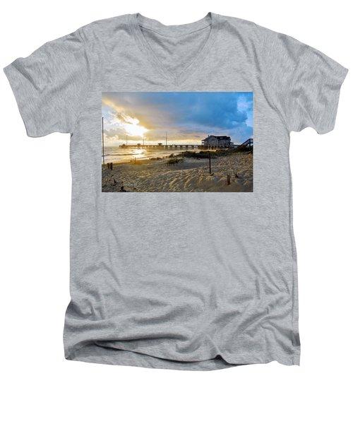 October 3 2016 Obx Sunrise Men's V-Neck T-Shirt
