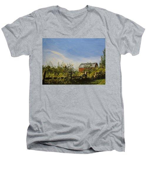 October Fence Men's V-Neck T-Shirt