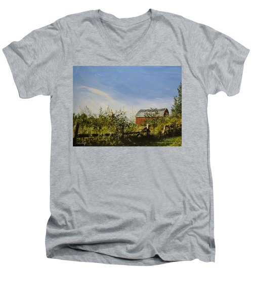 October Fence Men's V-Neck T-Shirt
