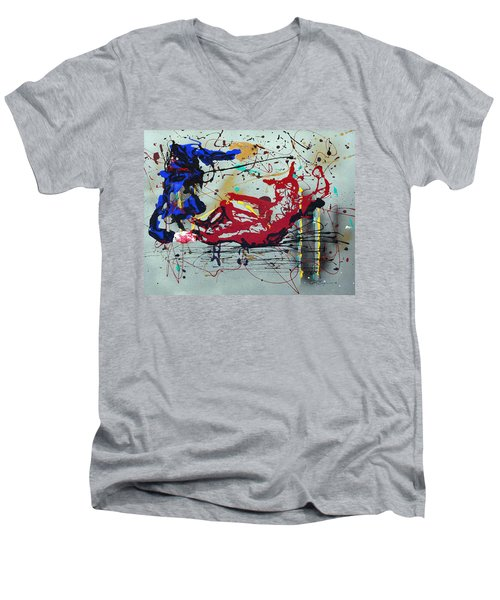 October Fever Men's V-Neck T-Shirt by J R Seymour