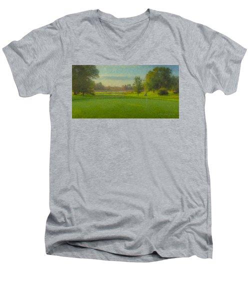 October Morning Golf Men's V-Neck T-Shirt