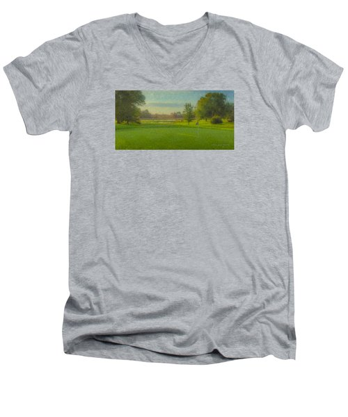 October Morning Golf Men's V-Neck T-Shirt