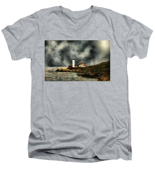 October Night, Portland Head Men's V-Neck T-Shirt