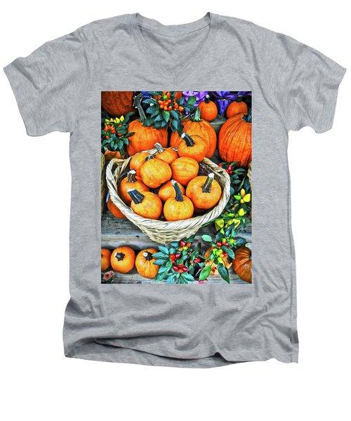 October Pumpkins Men's V-Neck T-Shirt