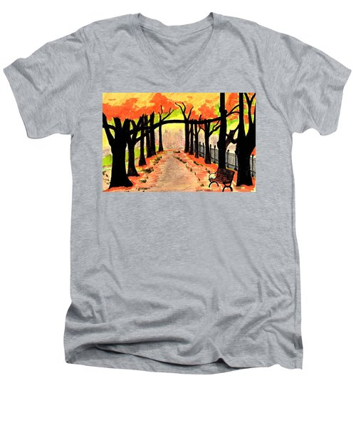 October- Salem Common Men's V-Neck T-Shirt